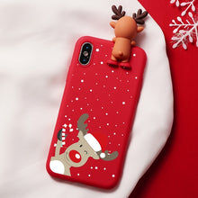 Load image into Gallery viewer, Rudolph Snowy Christmas Cartoon Characters iPhone Case - iPhone-Cases.org