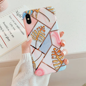 Geometric Marble Phone Cases For iPhone - iPhone-Cases.org
