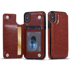 Leather Flip Wallet iPhone Case - iPhone-Cases.org