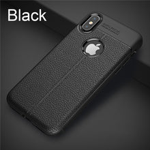 Load image into Gallery viewer, Matte Black Leather Fitted iPhone Case - iPhone-Cases.org