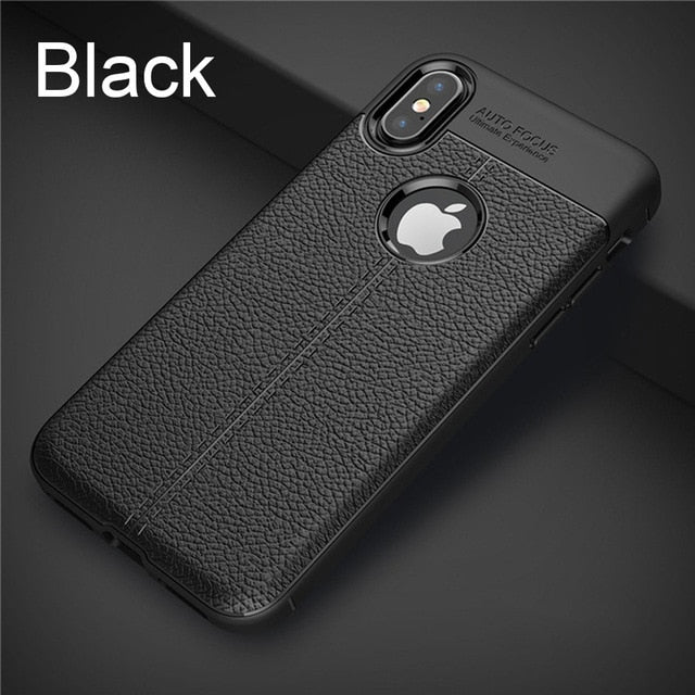 Matte Black Leather Fitted iPhone Case - iPhone-Cases.org