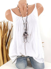 Load image into Gallery viewer, Round Neck  Plain Sleeveless T-Shirts
