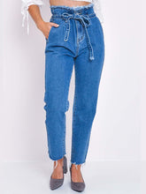 Load image into Gallery viewer, High Waist Ankle Pants Plain Jeans