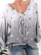 Load image into Gallery viewer, Star Printed Long Sleeve Blouses