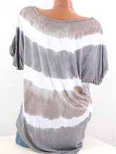 Load image into Gallery viewer, Stripes Round Neck Short Sleeve T-Shirts