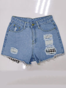 Loose Patchwork Pants Fashion Shorts
