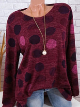 Load image into Gallery viewer, Round Neck  Dot Long Sleeve T-Shirts