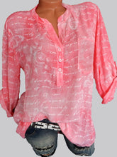 Load image into Gallery viewer, V Neck  Loose Fitting  Print Blouses