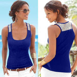 Round Neck Sleeveless Casual Vest