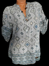 Load image into Gallery viewer, Loose Geometric Printed Fitting Blouses