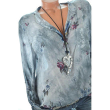 Load image into Gallery viewer, Women's Loose Printed Long Sleeve Blouses