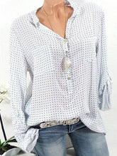 Load image into Gallery viewer, V Neck Loose Small Dots Blouses