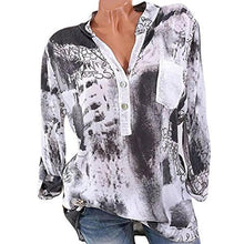 Load image into Gallery viewer, V-Neck Patch Pocket Long Sleeve Blouses