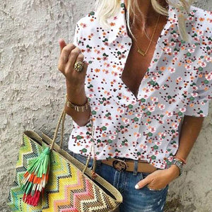 Multi-Color Flowers Printed Blouses
