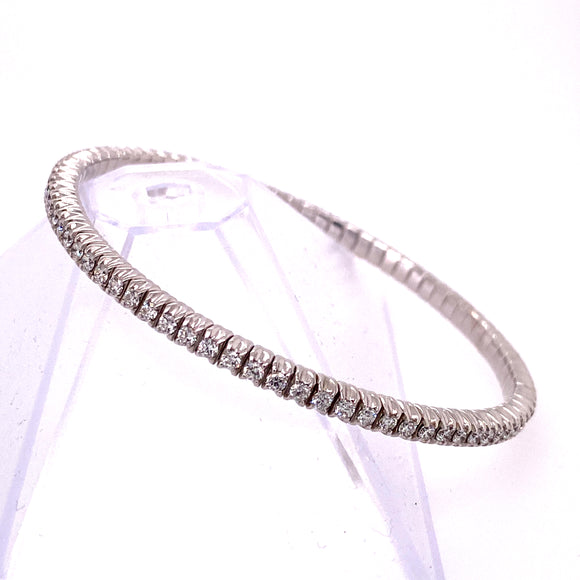 White Gold Stretchable Tennis Bracelet