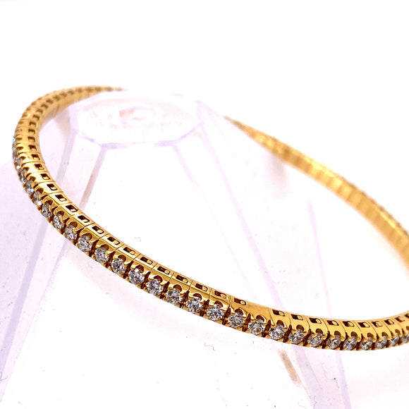 Yellow Gold Stretchable Tennis Bracelet