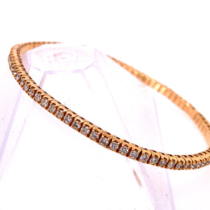 Rose Gold Stretchable Tennis Bracelet