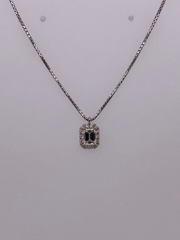Emerald-Cut Diamond Pendant