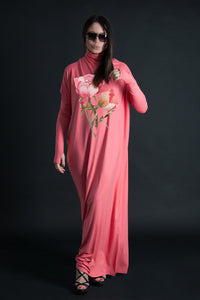 Long Kaftan Dress, Turtleneck long dress