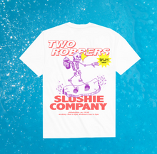"Load image into Gallery viewer, Two Robbers ""Slushie Co."" T Shirt - White"