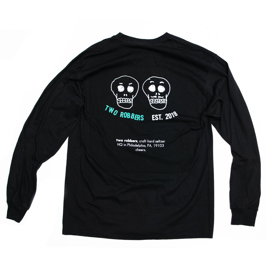 Two Robbers L/S Logo Tee Black
