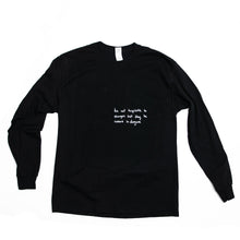 Load image into Gallery viewer, Two Robbers L/S Logo Tee Black