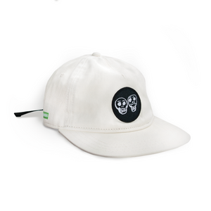 Two Robbers Logo Five Panel Hat - Off White Canvas