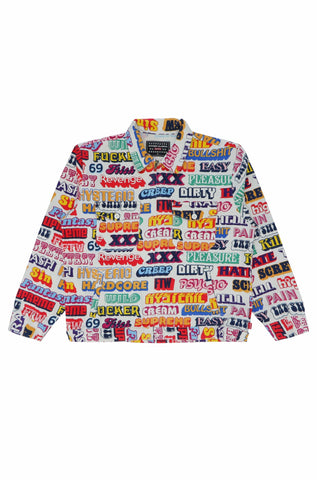 Supreme Hyesteric Glamour Text Work Jacket