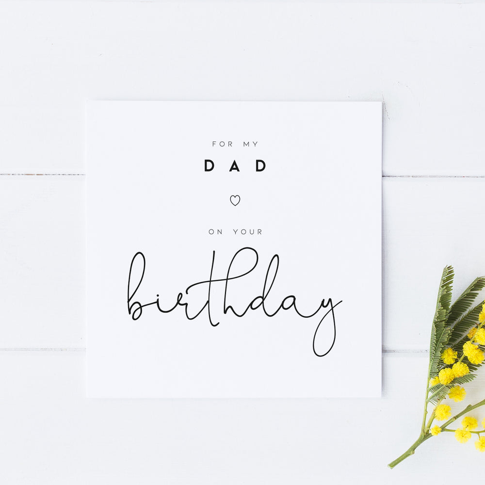 Birthday Card for Dad, Card for Dad, Happy Birthday Dad, Dad Birthday Card, Simple Card for Dad, Happy Birthday Dad, Card for Father