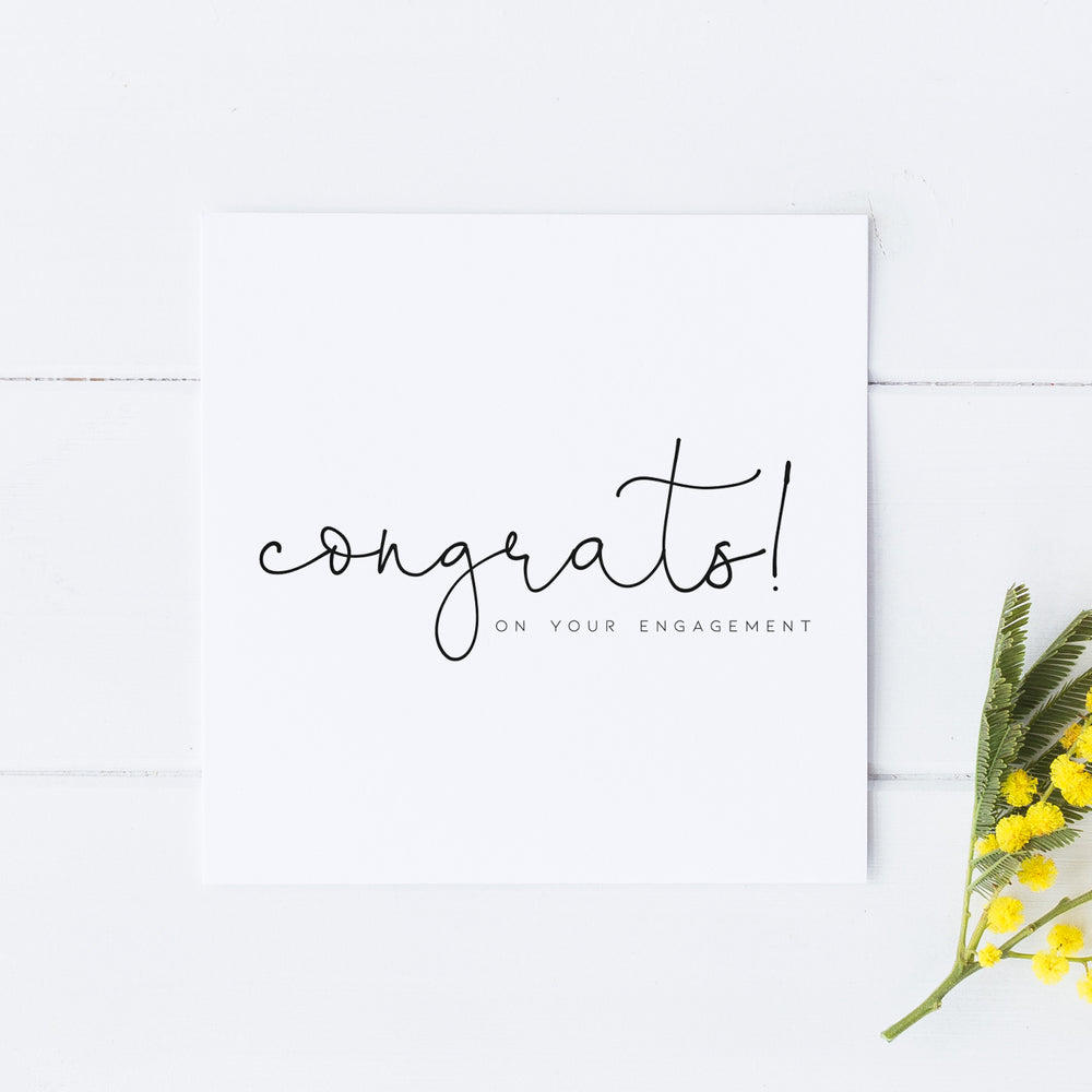 Congratulations On Your Engagement, Engagement Card, Congratulations Card , On Your Engagement Card, You're engaged, Wedding Card for couple