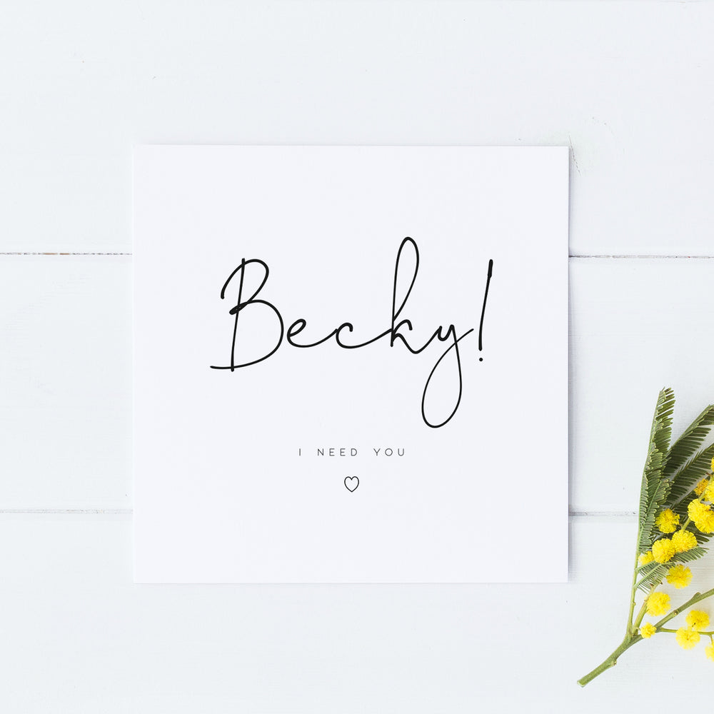 Personalised Will you be my Bridesmaid Card