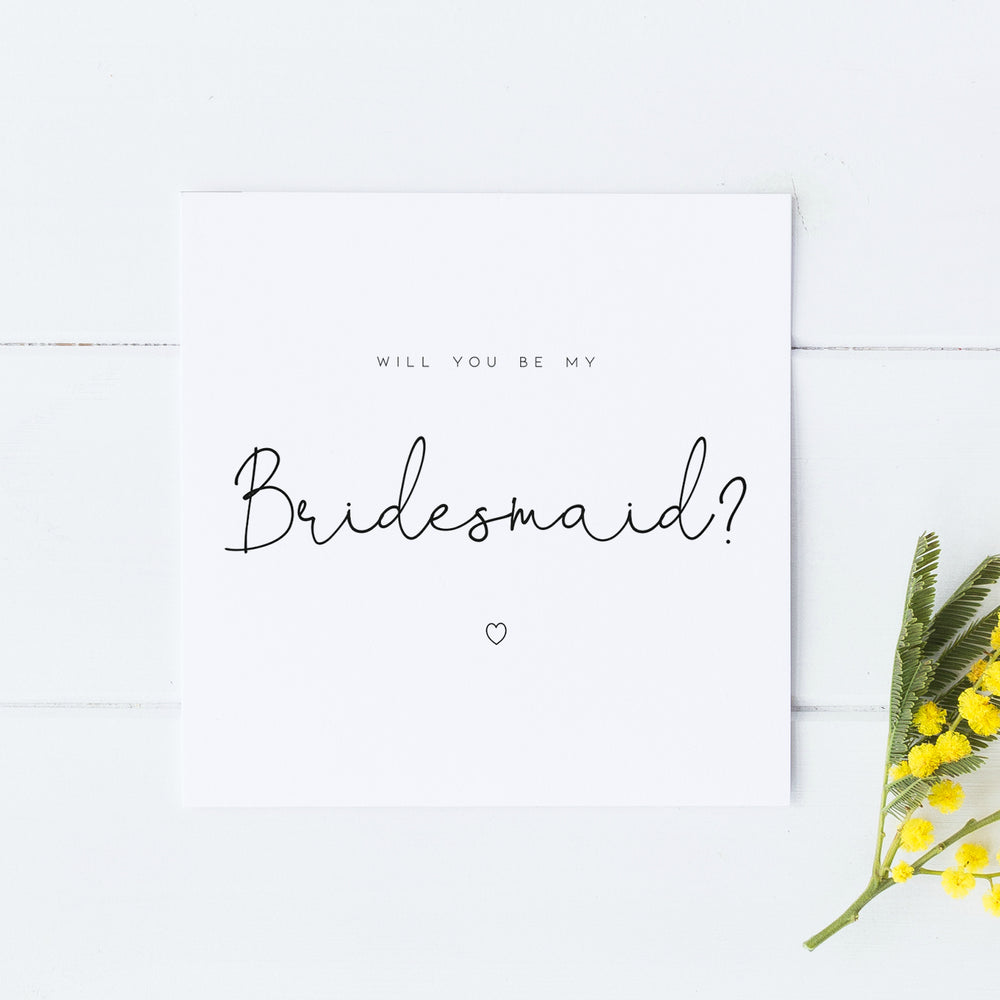 Be My Bridesmaid, Be My Bridesmaid Proposal Card, Be My Maid of Honour Card, Bridal Party Card, Bridesmaid Proposal, Simple Bridesmaid Card, Will you be my bridesmaid