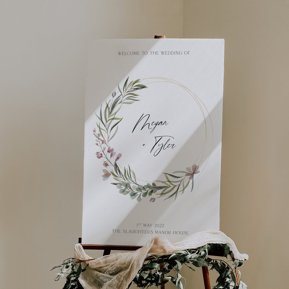 Elegant Wedding Welcome Sign - Broadway Collection, Elle Bee Design