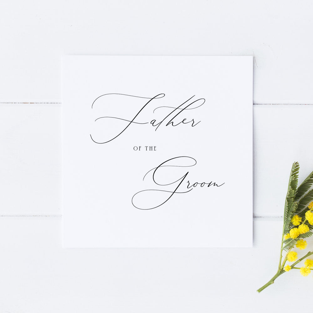 Father of the Groom Card, Wedding Parents Card, Father of the Groom Gift, Father of the Bride, Father of the Groom, Father of the Bride
