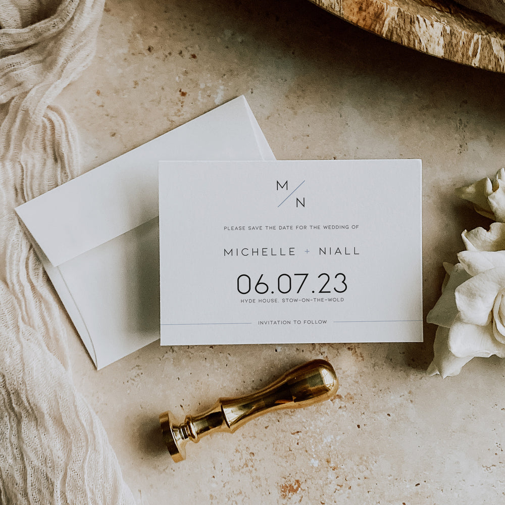 Modern Monogram Save the Date Card - Camden Collection, Elle Bee Design