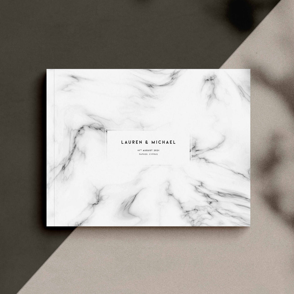 Marble Effect Wedding Guest Book - Chiswick Collection, Elle Bee Design