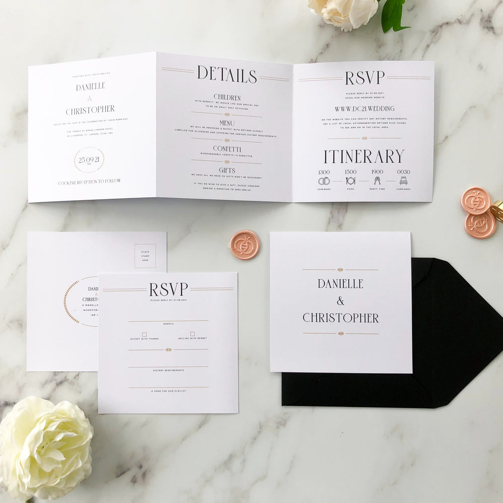 Earl's Court - Trifold Wedding Invitation