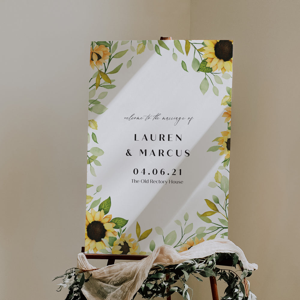 Farringdon - Wedding Welcome Sign