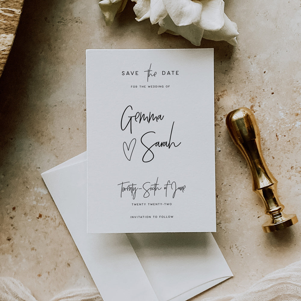 Holborn - Save the Date Card