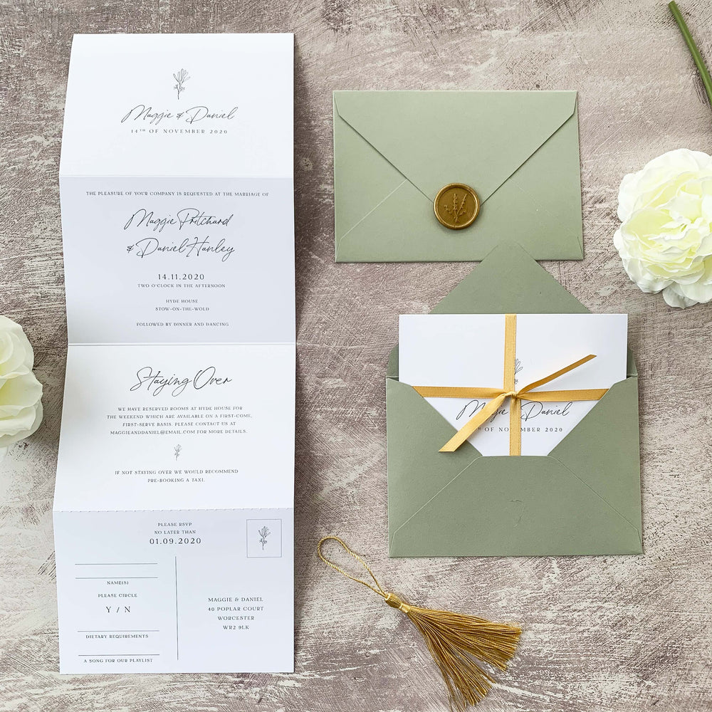 Holland Park - Concertina Wedding Invitation