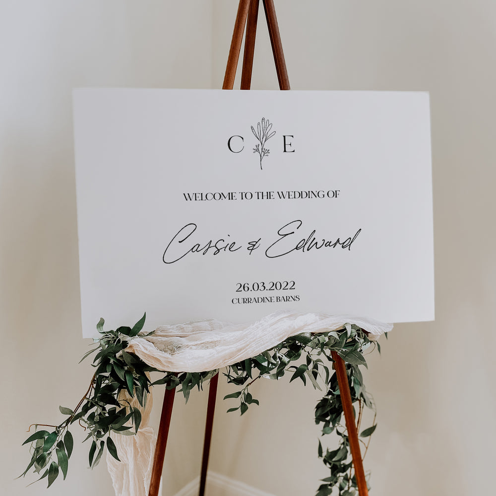 Vintage Floral Wedding Welcome Sign - Holland Park Collection, Elle Bee Design