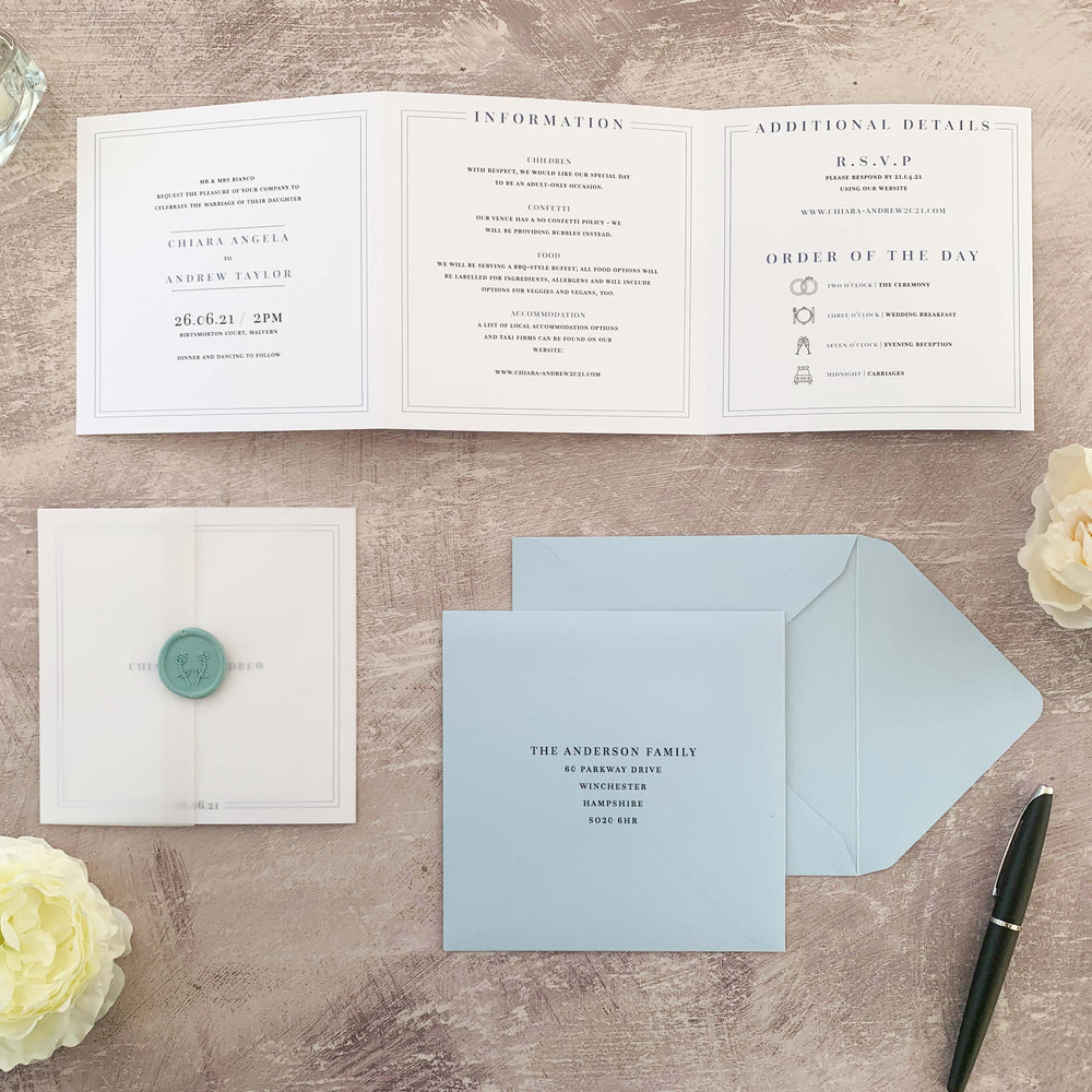 Monogram Wedding Invitation, Traditional Wedding Invitation, Simple Wedding Invitation, Elegant wedding invitation