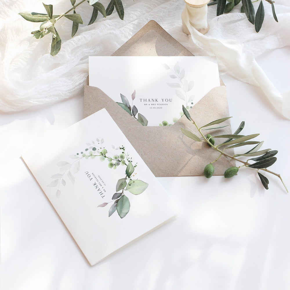 Botanical Wedding Thank You Card - Hyde Park Collection, Elle Bee Design