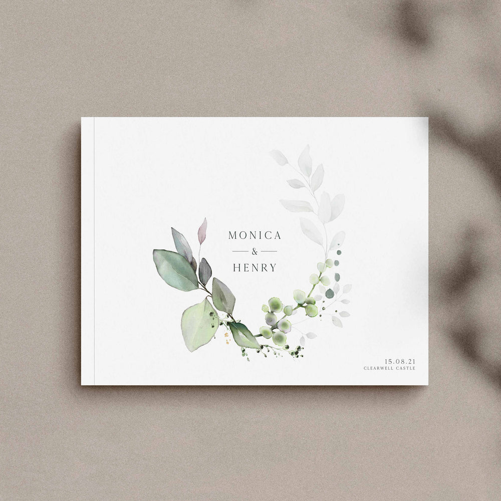 Botanical Wedding Guest Book - Hyde Park Collection, Elle Bee Design