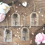 Wedding Favour - Key Bottle Opener and Thank You tag