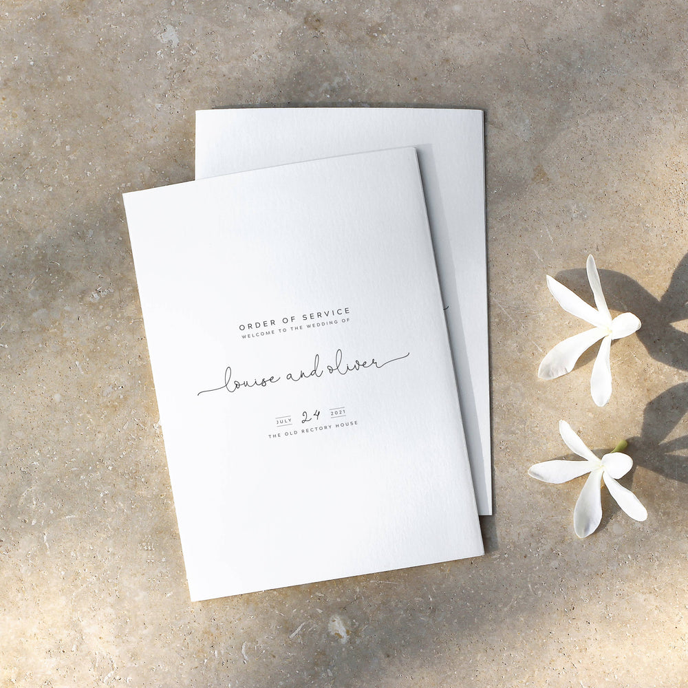 Simple Modern Order of Service - King's Road Collection, Elle Bee Design
