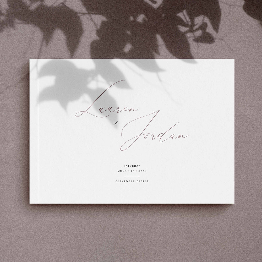 Elegant Wedding Guest Book - Knightsbridge Collection, Elle Bee Design