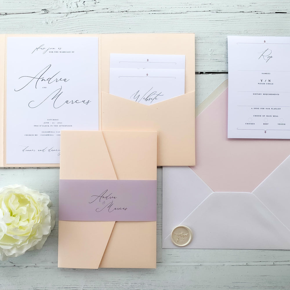 Knightsbridge - Pocketfold Wedding Invitation