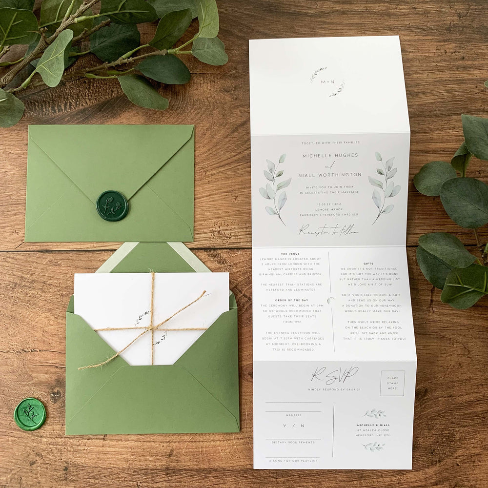 Mansion House - Concertina Wedding Invitation