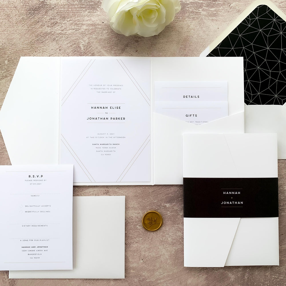 Mayfair - Pocketfold Invitation Sample